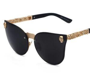 XIU Big Frame Cateyes Women Sunglasses Rimless Metal Fashion Brand Designer G...