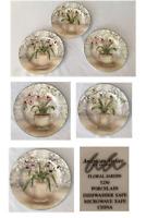 """VINTAGE American Atelier Salad Sandwich Plates 8.25""""  FLORAL JARDIN #5250 (3-PC)"""