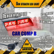 16 LED Emergency Dash Car Vehicle Hazard Windshield Warning Flash Strobe RED A