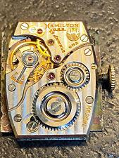 Hamilton 982 19 Jewel Men's Wrist Watch Movement with Dial - WORKING