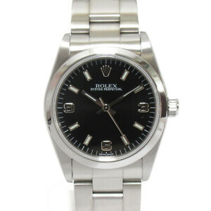 ROLEX Oyster Perpetual Wrist Watch montre 77080 Mechanical Automatic SS Used