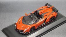 kyosho 1/64 Lamborghini Limited Edition Veneno Roadster Orange New