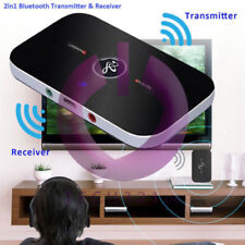 Bluetooth Wireless Audio Transmitter & Receiver 3.5mm Music 2 in1 Adapter PC UK