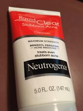 Neutrogena Rapid Clear Stubborn Acne Face Wash with 10% Benzoyl Peroxide Acne