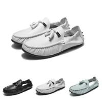Mens Leather Slip On Casual Flats Driving Gommino Moccasins Boat Loafers Shoes