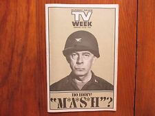 Feb 14, 1982 Lancaster Pa TV Week Mag(HARRY  MORGAN/MASH/FAYE GRANT/MICHAEL PARE