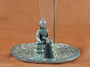 Räucherstäbchenhalter Räucherkegelhalter mit Buddha