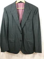 Ermenegildo Zegna $2495 Mens 100% Wool Gray & Pink Striped Jacket Blazer US 40S