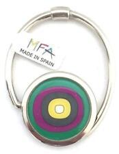 Designer Handbag Hook - S-Tail - Bag Hanger - Circles Green- New