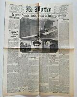 N935 La Une Du Journal Le Matin 26 juillet 1909 un grand français Blériot