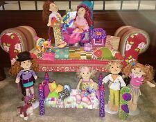 Lot #2 of Groovy Girls Dolls~Dreamtastic Salon~Cat w/ Code~Dog~Clothing~Access++