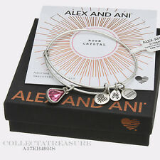 Authentic Alex and Ani Teardrop October Birthstone Rafaelian Silver Bangle