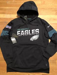 Nike Philadelphia Eagles Mens Hoodie Size Medium AO4181-010 Therma Sweatshirt