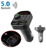 For iPhone X XR XS Max 6s 7 8 Bluetooth 5.0 FM Transmitter Fast USB Car Charger