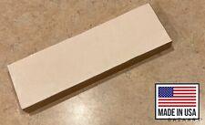 "Usa made Leather Sharpening Strop Red Oak Wood Block 8x2.5"" 20x6.3cm Razor Knife"