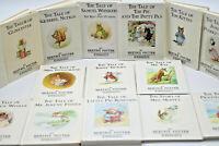 18 Beatrix Potter Peter Rabbit Books Vintage Set HC Hardcover Children's Stories