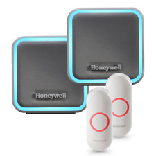 Honeywell Portable Wireless Doorbell with Halo Light & Push Button (Two Pack)