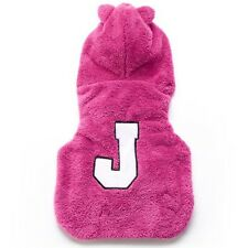 """Limited Edition Juicy Couture """"J"""" Hooded Pet Jacket - 12.75"""" Long"""
