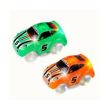 Mini Tudou Track Cars 2 Pack, Replacement Light Up Racing Track Car with 3 LE...