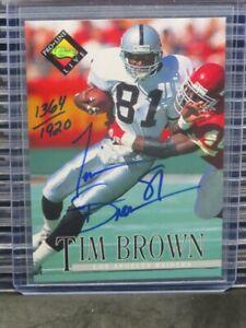 1994 Classic Pro Line Live Tim Brown Auto Autograph #1364/1920 Raiders C991