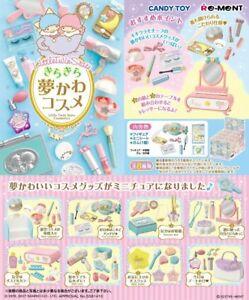 Re-ment Little Twin Stars Kira Kira Yume Kawa Cosmetics Full set 8 packs Japan