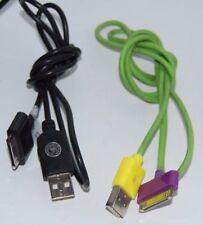 LOT DE 2 CÂBLES USB POUR I-PHONE 3GS/4/4S.