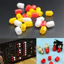 Protector de Enchufe Jack Rca 50 un. Cubierta de Polvo Tapa Para Receptor de Video Audio Amp Audio 3 Color