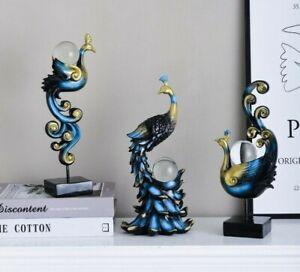 Nordic Phoenix Bird Statue Figurine Sculpture Tabletop Home Office Decoration S