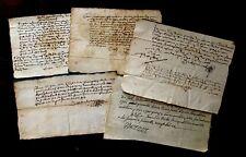 Authentic Autographed Paper Manuscripts Lot 1500-1700s