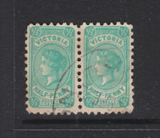 Victoria:1/2d Qv Postage Type A Pair And 3 Singles Shades Used