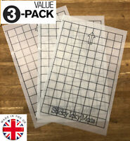 "3x (8x12"") Grid Mat pack Silhouette Cameo 2 Portrait cutting A4 Carrier sheet"