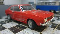 MK1 FORD CAPRI RED 1969 1600 GT XL V6 WELLY 1/24 SCALE CAR DIECAST MODEL