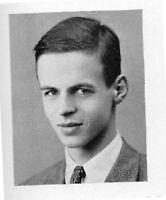 GEORGE PLIMPTON High School Yearbook SENIOR Year