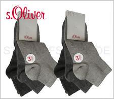s.Oliver Sneaker Quarter Socken Damen Herren 6 Paar anthrazit grau Art. S21001