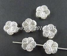 65pcs Tibetan Silver Nice Flower Spacers 9.5x3mm zn15180
