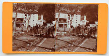 Saint-Martin-du-Var Photo stéréo Amateur Papier citrate Vintage avril 1900