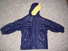 Girls Gymboree Navy Coat with Yellow Trim Size Medium 4 Years