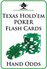 Color Up POKER FLASH CARDS: HAND ODDS. Learn how to win at Texas Hold'em!