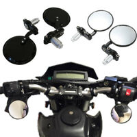 """For Street Bikes USA Motorcycle Round 7/8"""" Handle Bar End Rearview Side Mirrors"""