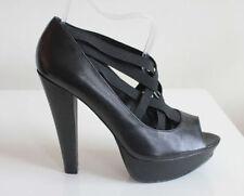 Aldo Peep Toes Slim 100% Leather Upper Heels for Women