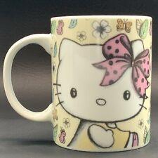 Stunningly Cute Hello Kitty Mug Sanrio Floral Flowers Design