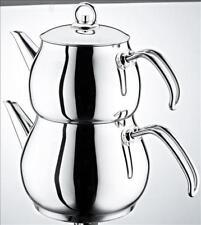 Schillerbach Istanbul Teekanne  mini Türkisch Tee Kochset Edelstahlgriff 18/10