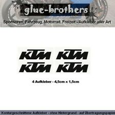 4 x KTM Aufkleber 4,5x1,5cm Farbwahl Motorsport Decal Sticker Sponsoren Cross