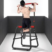 Adjustable Chin Up Stand Pull Up Bar Dip Power Tower Home Gym Fitness Workout US