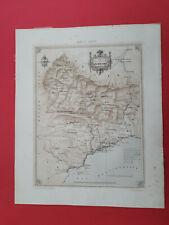 carte ancienne Alpes Maritimes ancien comté de Nice Charpentier Benoist 1861