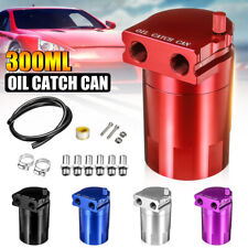 0.3L 300ml Oil Catch Breather Can Universal Baffled Aluminum Reservoir Tank AU