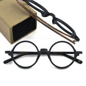 Posesion Hand made Wood Acetate Glasses frames Retro Round Eyeglasses Women Men