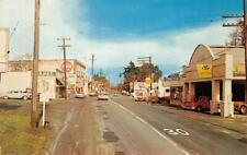 "GEYSERVILLE, CA Street Scene ""Lampson Tractor"" Sonoma Co c1960s Vintage Postcard"