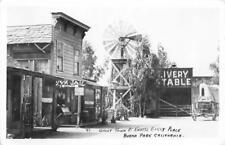 RPPC Ghost Town At Knott's Berry Place Buena Park, CA Stagecoach c1940s Postcard