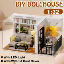 DIY Miniatur Haus Puppenhaus LED Puppenstube Spielhaus mit Möbel Zubehör Decor